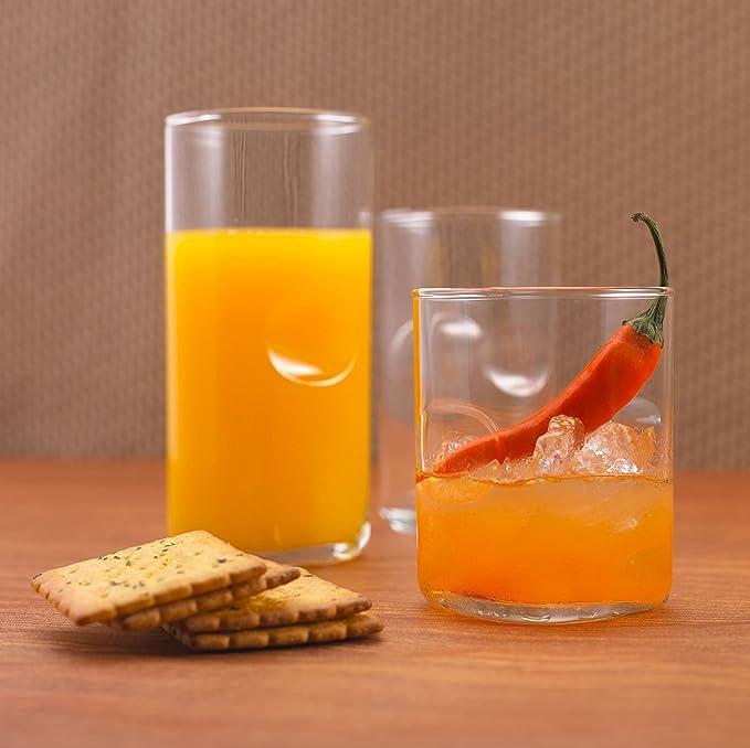 Ocean Tumbler Unity Glass Set, 384.46ml, Set of 6, Clear Glassware & Drinkware at amazon