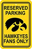NCAA Iowa Hawkeyes 12-by-18 inch Plastic Parking Sign