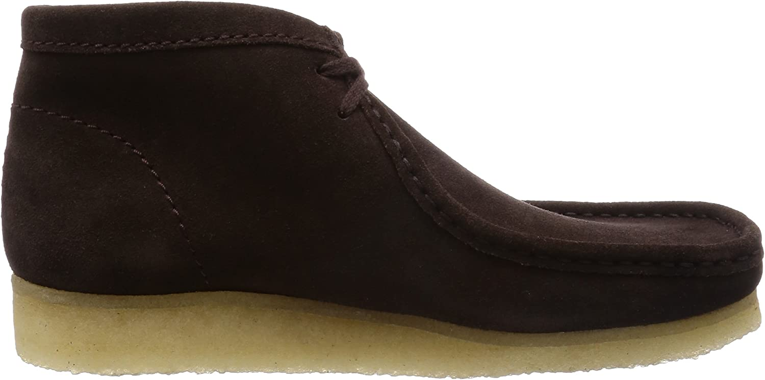 Clarks Originals Wallabee Boot Herren Kurzschaft Stiefel Braun Dark Brown Suede TWf4y