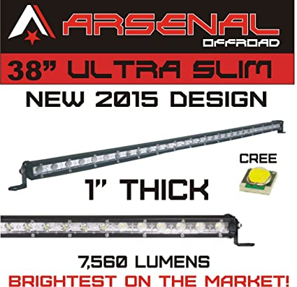 Amazon 1 38 arsenal offroad ultra slim 1 thick real cree 1 38quot arsenal offroad ultra slim 1quot thick real cree leds 60 aloadofball Image collections