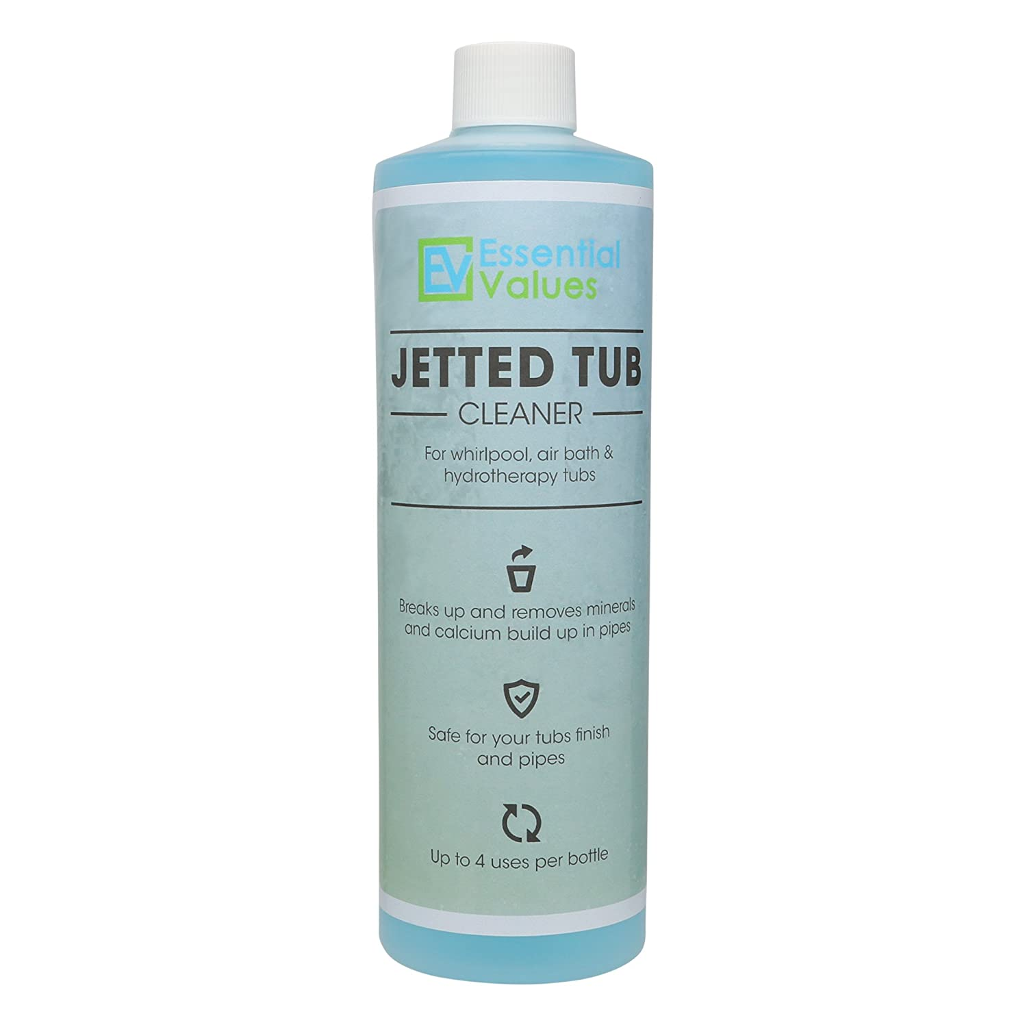 Amazon.com: Jetted Tub Cleaner, Whirlpool Tub Cleaner (16oz / 4 uses ...