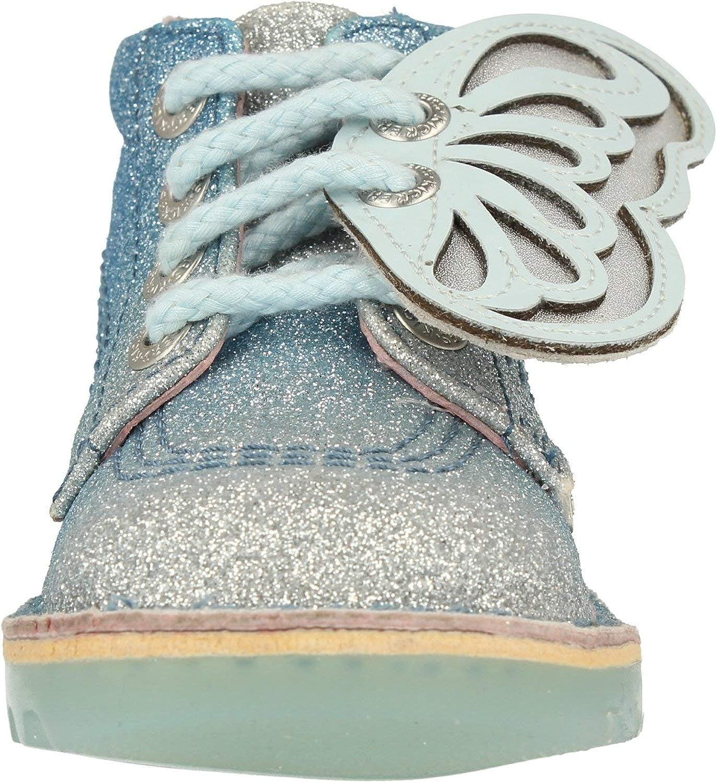Kickers Kick Glow Faeries I Blue//Silver Gradient Textile Infant Boots