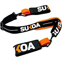 Sukoa Ski & Pole Carrier Straps - Shoulder Sling with Cushioned Holder Protects from Scratches & Damage - Downhill…