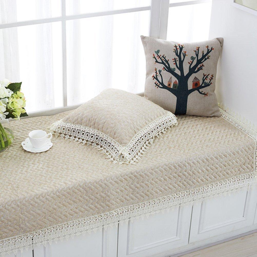 XMZDDZ Bay Window Cushion,Tatami Mat Sofa Cushion Balcony Floor Window Sill Mat Cover seats Sill Pad Non-slip-B 110x180cm(43x71inch)