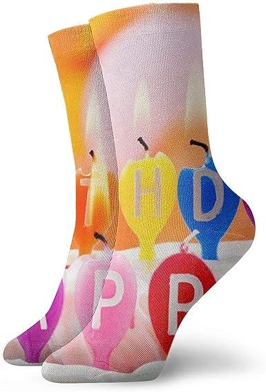 ASS Pack de calcetines de vestir unisex Happy Birthday Candle Cake Divertidos calcetines de poliéster: Amazon.es: Ropa y accesorios