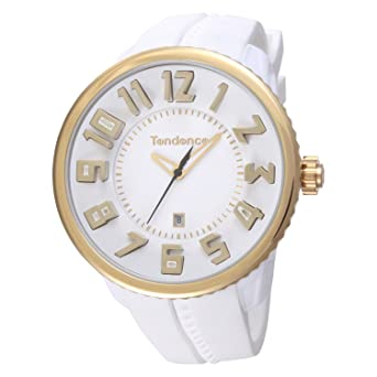 5ec948e28c [テンデンス]Tendence 腕時計 ラウンド ガリバー 白文字盤×金インデックス 10ATM 50mm 02043023