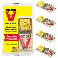 Victor Easy Set Mouse Traps that Work - Pack of 4 - Effective Pest Control Indoors & Outdoors #M032