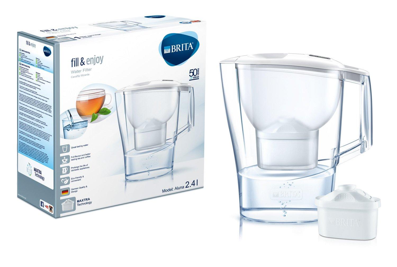 Brita Aluna Frosted - Jarra con filtro, color blanco capacidad 2.4 L: Amazon.es: Hogar