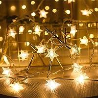 Guirnalda de Luces,Star Luces de Hadas Estrella de la Noche Luz de la Secuencia 6M 40Pcs LED Estrellas de Luces…