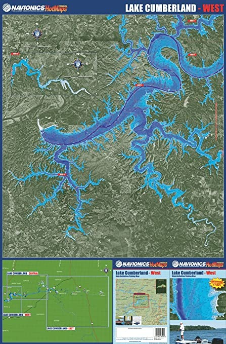 Amazon.com: Navionics Paper Map: Lake Cumberland - West Kentucky ...