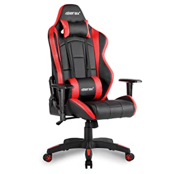 Amazoncom Merax Racing Chair Computer Gaming Chair Big and Tall