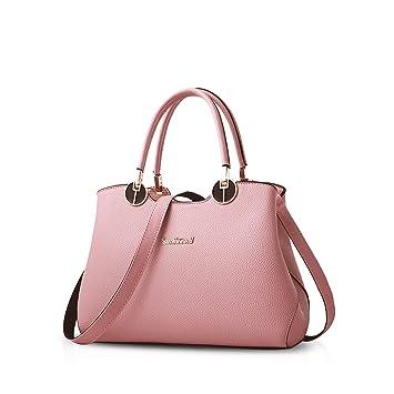 a5cbfcead4dd8 NICOLE   DORIS Damen Handtaschen Süße Schultertasche aus PU Leder Rosa