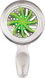 Tovolo 2-in-1 Cocktail Strainer with Removable Citrus Reamer Barware Bar Tool