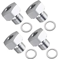 Oil Pressure Sensor Adapter M16x1.5 to 1/8 NPT LS Engine Swap For GM LS1 LSX LS3,Pack of 4