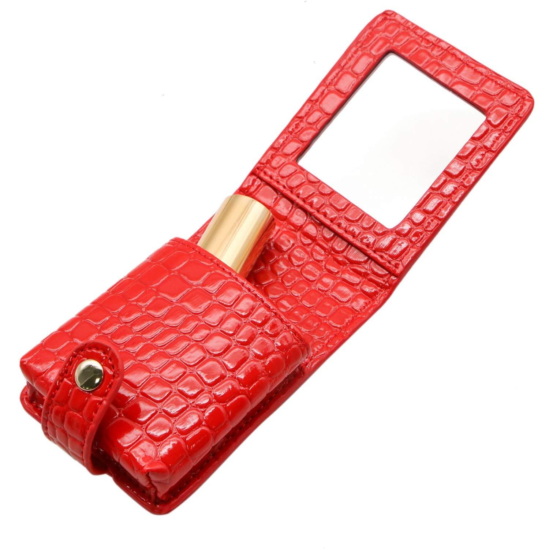 e992caa0a06d Amazon.com: JETEHO Women Ladies Lipstick Case Holder with Mirror ...