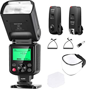 Neewer NW635 TTL GN58 Flash with 2.4G 16-Channel Flash Trigger and Soft Diffuser, Compatible with Sony MI Hot Shoe Cameras A9II A9 A7RIV/III A7III/II A7SII A6600 A6500 A6400 A6300 A6000 A77II