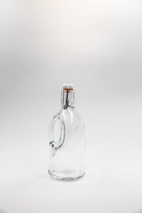 Covim nr 1 botella Siphon Birra 500 ml de vidrio blanco tapón mecánico n°34