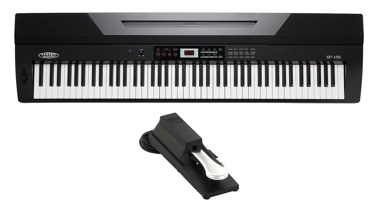 Set de stage piano Classic Cantabile SP-150 BK negro (Incl. pedal): Amazon.es: Instrumentos musicales