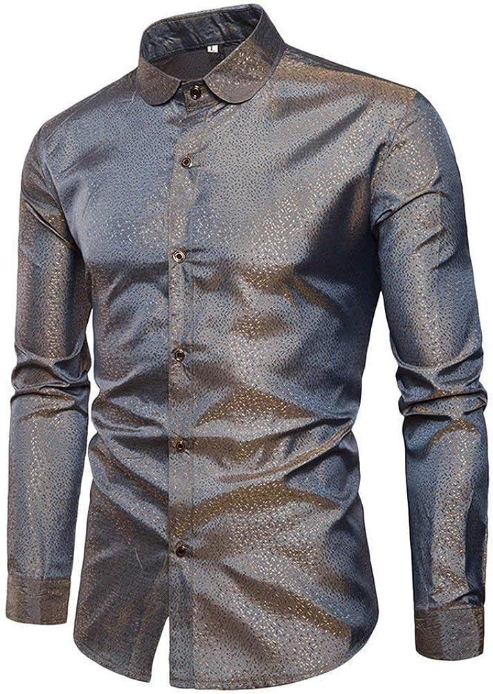 Camiseta con Cuello En V para Estilo Club Hombre Nocturno Funky Point Chic Ropa Camisa con Cuello En V Manga Larga Camiseta Ajustada con Cuello En V Tops Ropa para Hombre: Amazon.es: