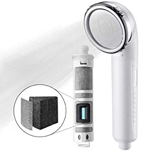 Miniwell Shower Head Filter L750 - Filtered Shower head - Shower Filter - Remove 99% chlorine and water impurifies (Shower Head without Hose)