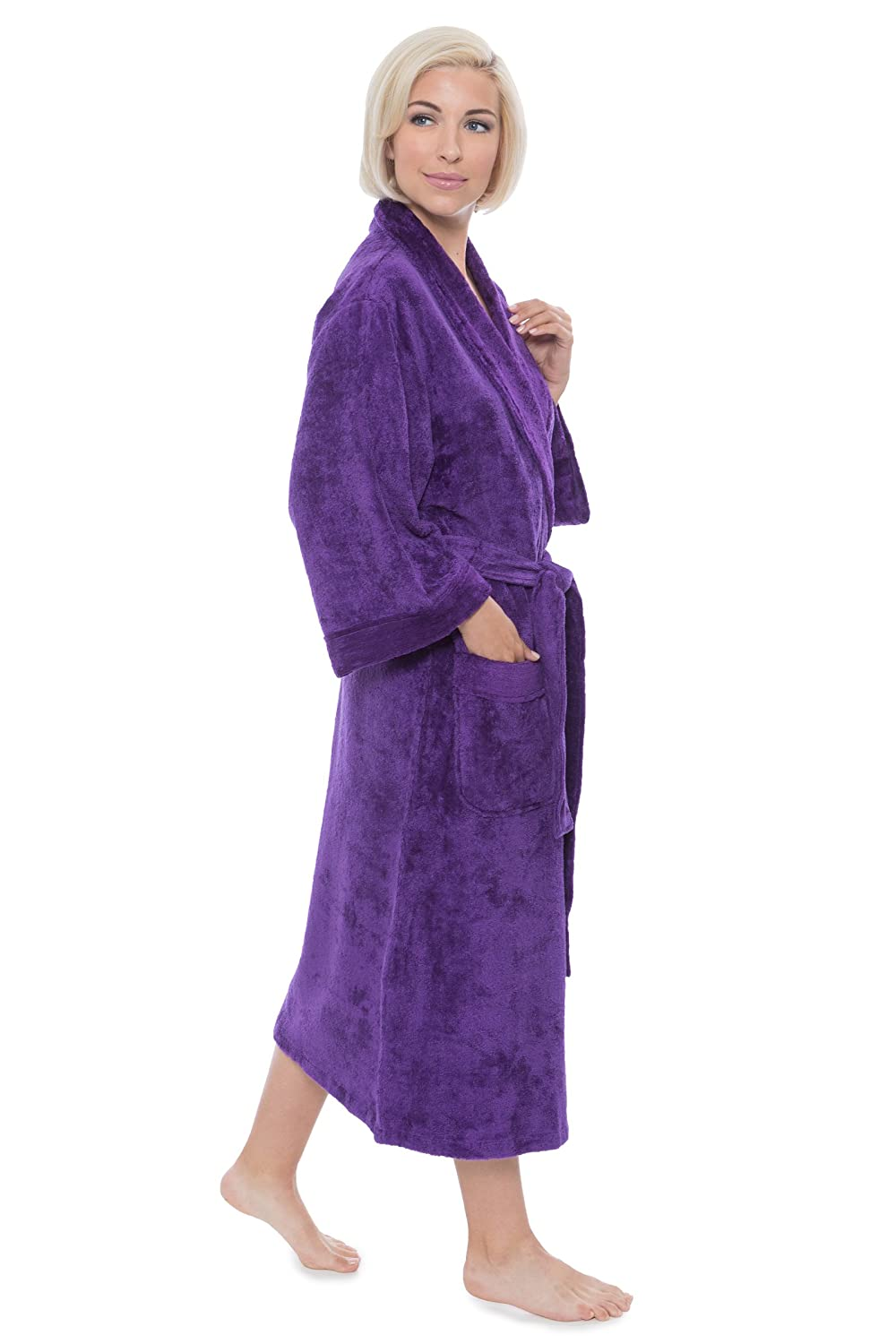 7887c26822 Women s Terry Cloth Bath Robe - Luxury Comfy Robes by Texere (Sitkimono) at Amazon  Women s Clothing store