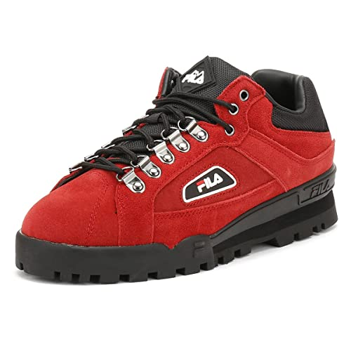 bdef5fc85aad2 Fila Pompein Red/Black/White Trailblazer Sneakers-UK 8: Amazon.ca ...
