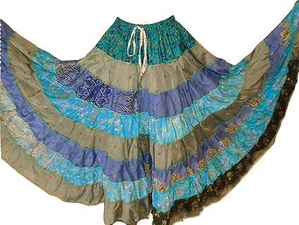 Dancers World Ltd Falda bohemia de 9 yardas tribal Gypsy Maxi para ...
