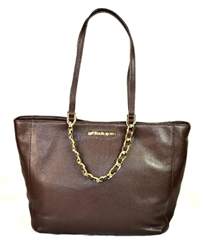 1a3418badc8c Michael Kors Harper Large East West Tote Bag Handbag Chocolate Brown:  Handbags: Amazon.com