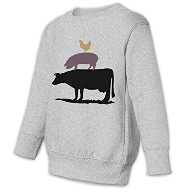 7f0f48033 Amazon.com: Cow Pig Chicken Baby Kid 2-6 Toddler Cartoon Sweatshirt  Sweaters: Clothing