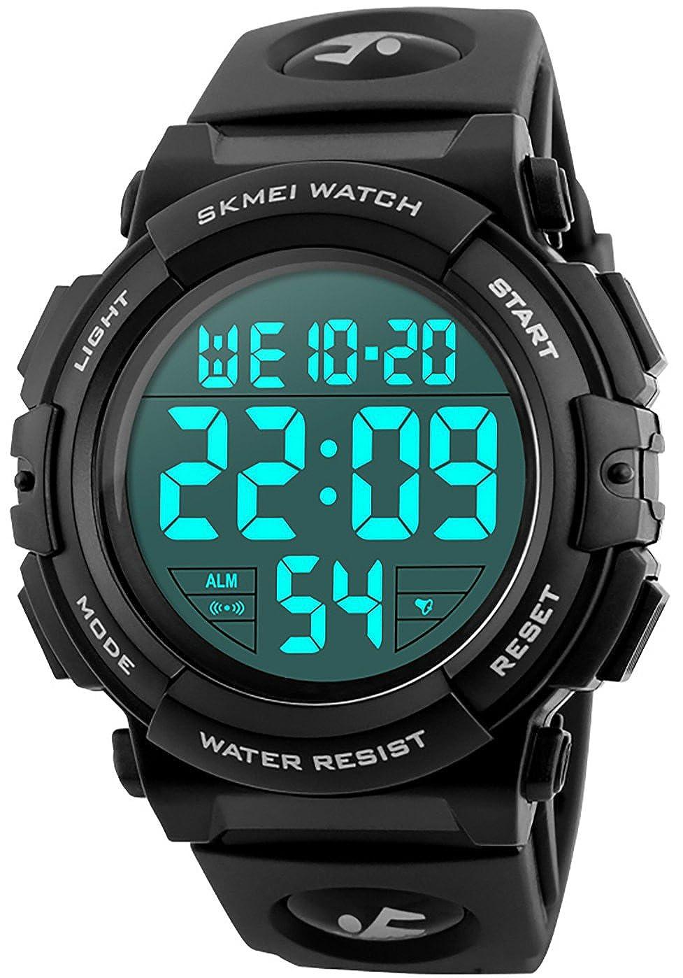 Dual-display-uhren Mode Marke Männer Military Digitale Datum Countdown-timer Quarz Led Armbanduhr Sport Ourdoor Gummi Armbanduhren Männlich Uhr Herrenuhren