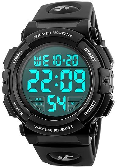 CIVO Hombres Relojes Deportivos Digital Militar Grandes Números 50M a Prueba de Agua Diseño Simple Ejército