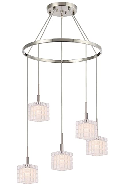 Amazon.com: Woodbridge Lighting 18628STN-C80415 - Lámpara de ...