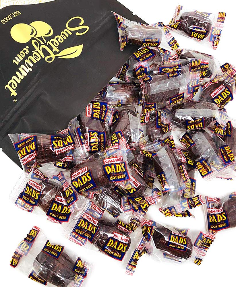 No Sugar Dad's Root Beer Barrels | Sugar Free Wrapped Hard Candy Bulk | 1 Pound by SweetGourmet