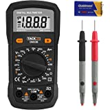 Tacklife Multimeter, DM03B Advanced Digital Multi Tester AC/DC Voltage Current Resistance Diode and Continuity Voltmeter Ammeter Ohmmeter with LCD Backlight