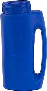 Ice Melt Salt Spreader Handheld Shaker for Lawn Seed, Salt, Ice Melt, Calcium, Deicer Shaker 2 Liter, Adjustable Hole Size, Handy for Fertilizer Lawn Seed Salt to Deice