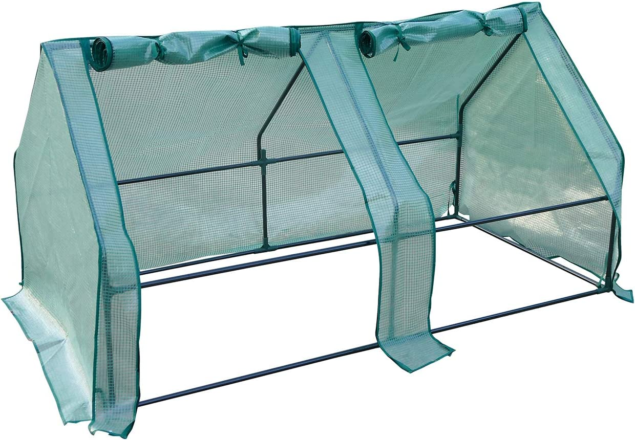 Rural365 Portable Greenhouse for Outdoors, Green House for Plants Outdoor Greenhouse Kit with Roll Up Doors, 6x3x3ft