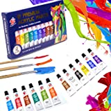 TBC The Best Crafts 12 Colors(12 x 12ml) Acrylic Paint Set for Professional Artists, Adults. Rock Painting, Clay Paint, Canva