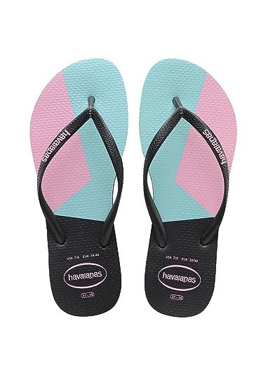 4b2668702 Havaianas Women s Slim Block Colors Flip Flops  Amazon.co.uk  Shoes ...