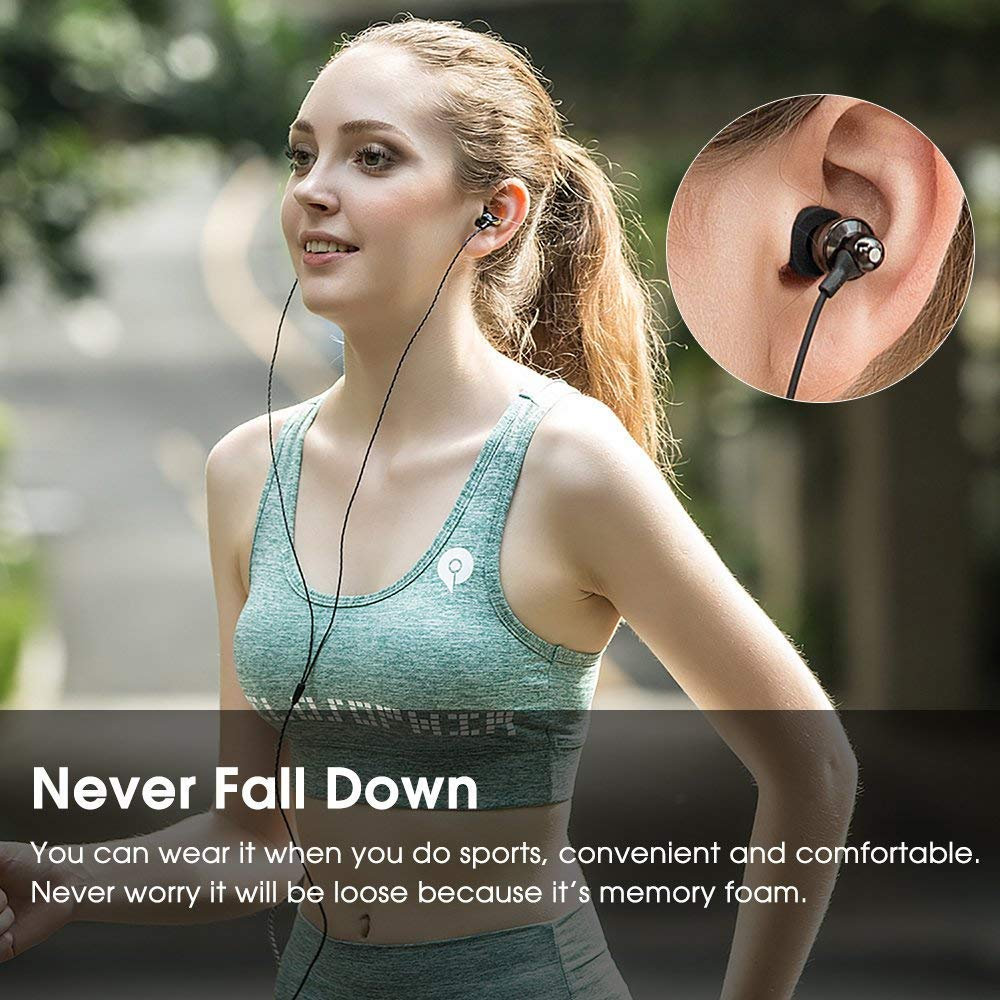 Kopfhörer ohrstöpsel in Ear Ersatz 6 Paar, New Bee Ohrstöpsel Tipps Premium Memory Foam & Silica Ohrhörer Weiches Kissen Ohrpolster Noise Cancelling Geeignet für Kopfhörer mit 5mm-7mm Tipps (S/M/L, Grün/Schwarz)