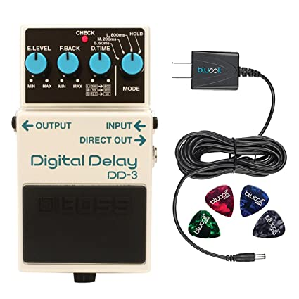 Amazon.com: BOSS DD-3 Digital Delay Effects Pedal Bundle with Blucoil Power Supply Slim AC/DC Adapter for 9 Volt DC 670mA and 4 Guitar Picks: Musical ...
