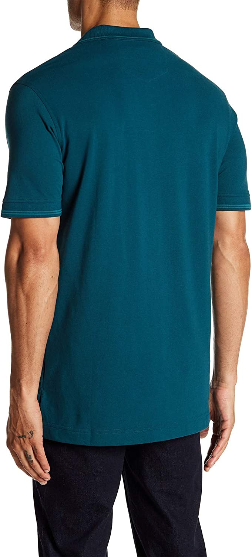 Robert Graham Mens Westan Short Sleeve Knit Polo X-Large, Dark Teal
