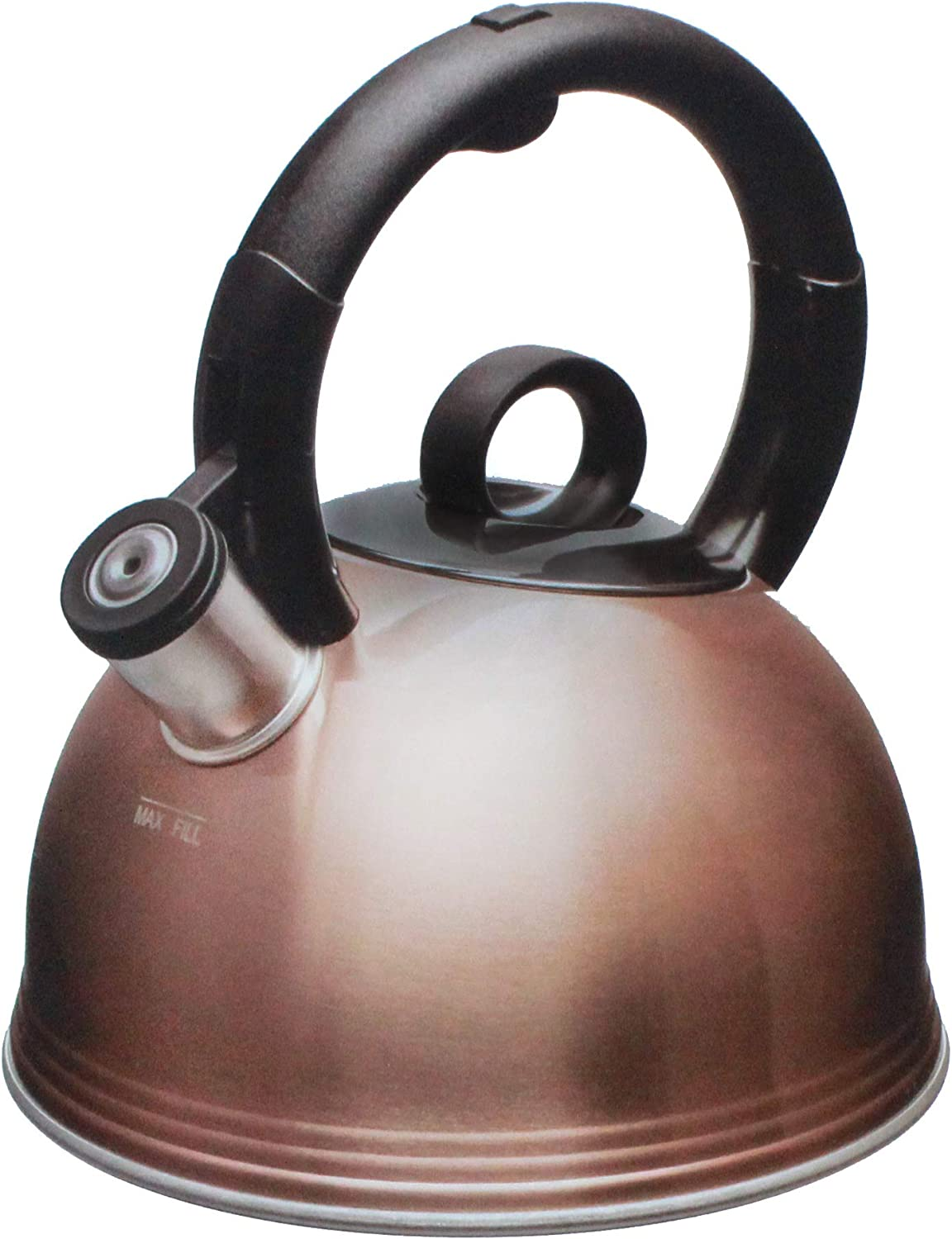 Copco 5263156 Stainless Steel 2.1 Quart Whistling Tea Kettle, Glossy Copper Finish