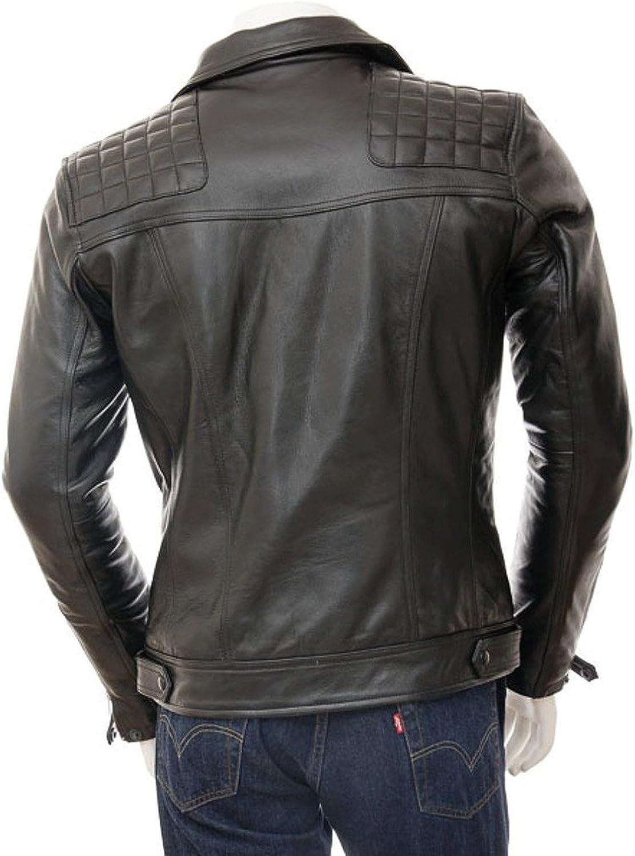 Kingdom Leather Men Motorcycle Lambskin Leather Jacket Coat Outwear Jackets X730