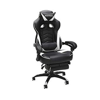 Strange Respawn 110 Racing Style Gaming Chair Reclining Ergonomic Leather Chair With Footrest In White Spiritservingveterans Wood Chair Design Ideas Spiritservingveteransorg