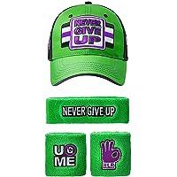 FREEZE John Cena WWE NUNCA Give Up verde morado Gorra Béisbol diadema Brazalete Set