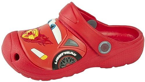 d045ad94c90 Disney Cars Rayo Mcqueen 3D – Zuecos Playa Zapatos de Verano Sandalias  Niños Kids tamaño UK