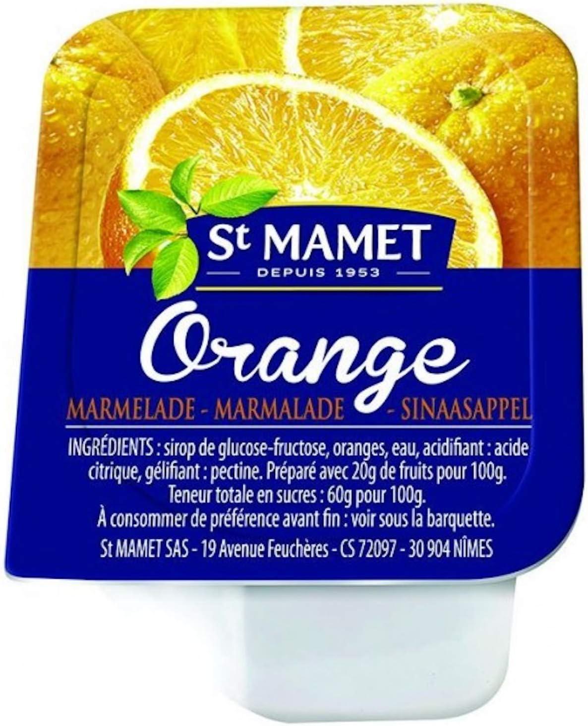 120 coupelles 20 G de confiture St Mamet 5 parfums