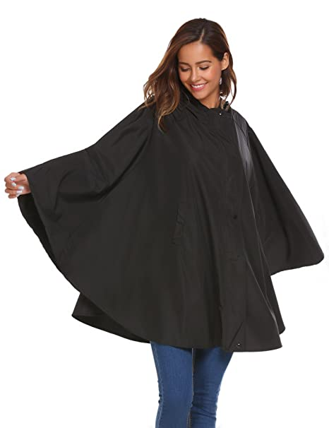 Amazon.com: SoTeer Poncho impermeable para mujer con capucha ...