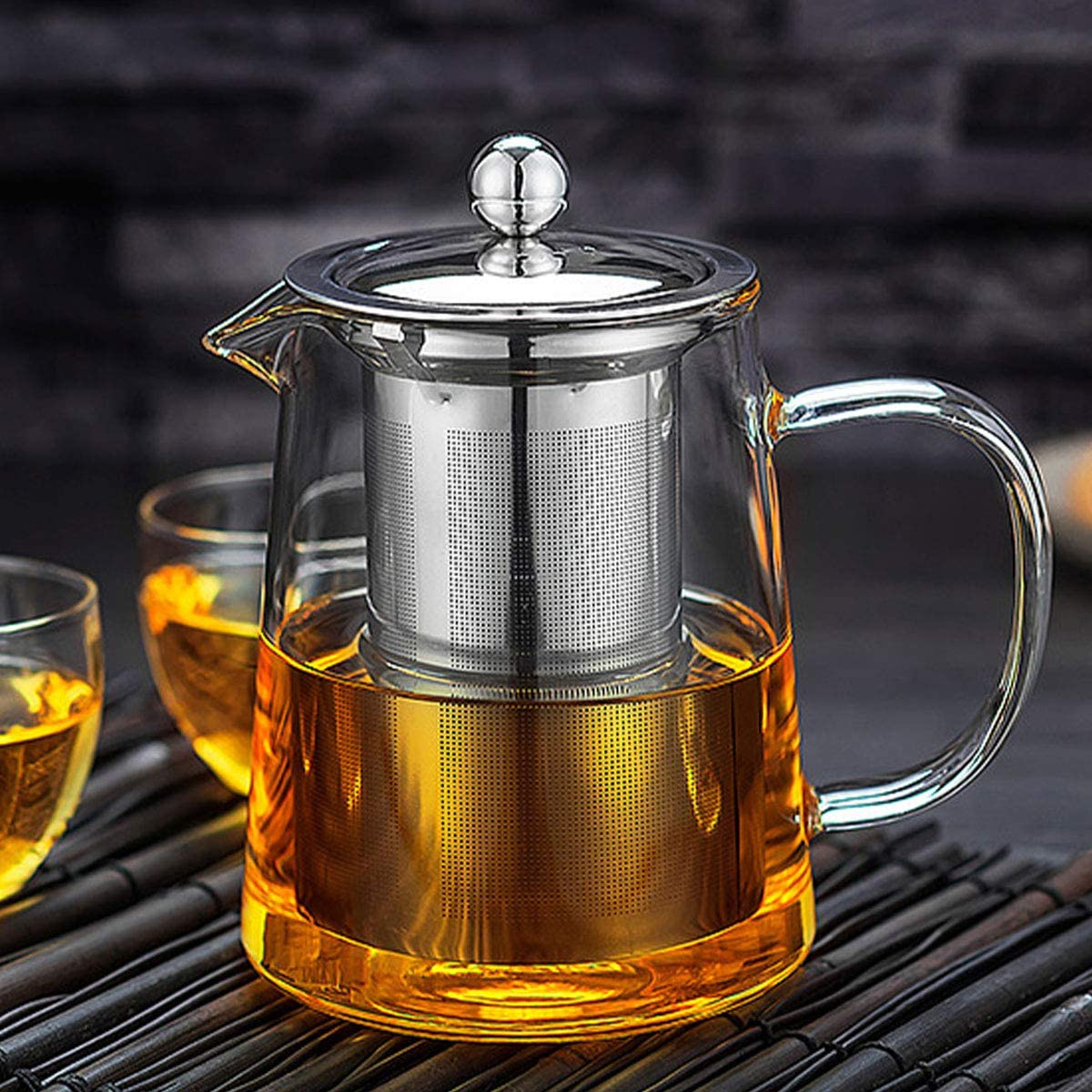 Hiware Good Glass Teapot with Stainless Steel Infuser /& Lid Borosilicate Glas...
