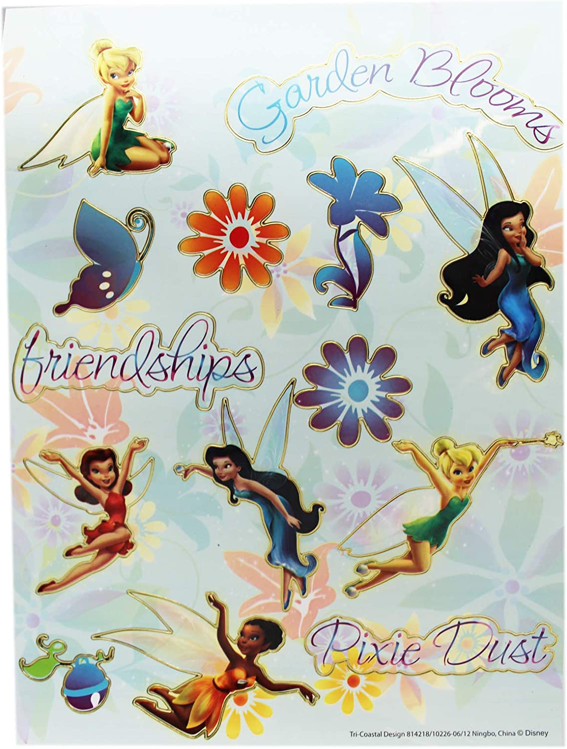 3 NEW Sheets TINKERBELL Disney Fairy Pixie Scrapbook Stickers!